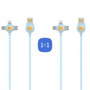 3in1 멀티 케이블 120cm/충전케이블 1+1/ 카카오 프렌즈