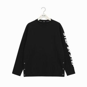 (ELOQ)_E186MTS309U_(유니) 루즈핏 소매 레터링 옆트임 긴팔 티셔츠/ 엘록