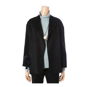(현대백화점) 나이스클랍  (N184XWC941) 모던카라 폼폼이장식 코트