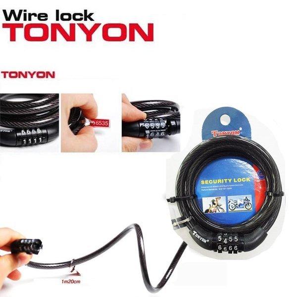 전기 자전거 TONYON 532 번호 와이어 자물 열 쇠 키