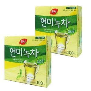 동서 업소용 현미녹차 100T x 2개 티백 녹차 차음료