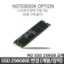 M.2 SSD 250GB (교체장착) / DU0070TU 옵션