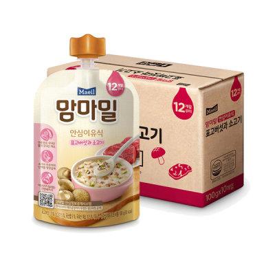 [매일유업] 맘마밀 표고버섯과소고기 100g 10팩 (12개월)/이유식