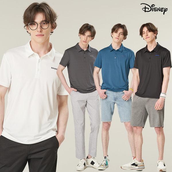 1+1 디즈니 남자 싱글 카라 티셔츠 2장 클래식 골프티