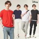 1+1 디즈니 남자 베이직 티셔츠 2장 레터링 반팔티