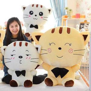 큰 얼굴 달콤한 고양이 인형 베개 쿠션장난감 선물