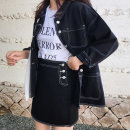 데님자켓+치마 여성 캐주얼 투피스 정장세트