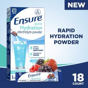 Ensure Rapid Hydration Electrolyte Powder 18개입