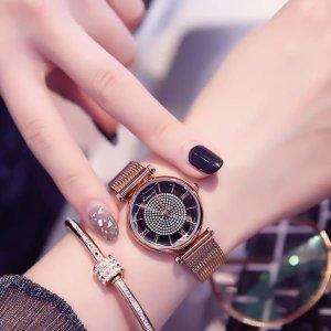캐쥬얼 데일리 패션 손목시계 여자 메탈밴드 심플 여