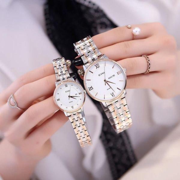 패션 여자손목시계 메탈밴드 캐쥬얼 데일리 여자손목