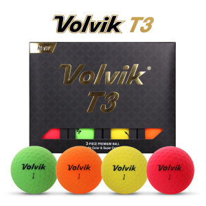 2020년신제품 볼빅 T3 프리미엄 비비드무광 4색칼라 골프볼-12알