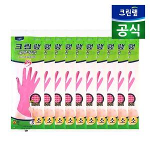 [크린랲] 위생라텍스장갑/ 크린랩 ES 고무장갑 핑크 (소 x 10P)
