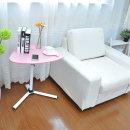 마이홈 삼각 높이조절 사이드테이블(핑크)