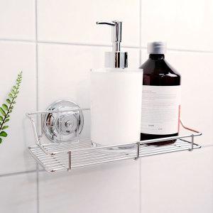 욕실수납선반 흡착식 화장실선반