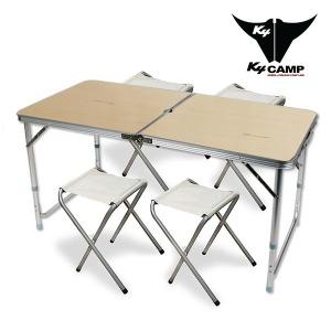 120 고급 테이블-내열코팅+의자4개/캠핑테이블/테이블