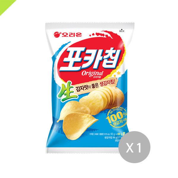 오리온 포카칩 오리지널 66g/사무실/간식/안주