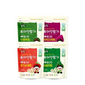 핑거 유기농 동그란 야채링 4가지맛 10+2/ 퓨어잇
