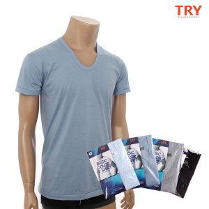 TRY  남성속옷 컬러반팔런닝 2매세트