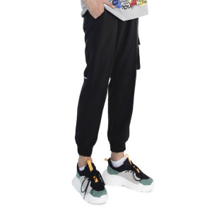 (UNISEX) M Royal Cargo-Jogger Pants (BLACK)
