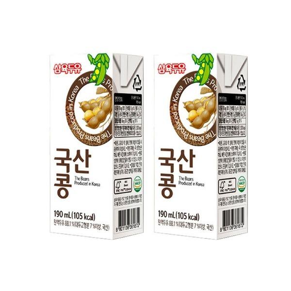 삼육두유 무첨가 국산콩두유 190ml 48팩/부모님선물