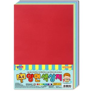 종이나라 12000원 A4 양면색상지 10색 150매