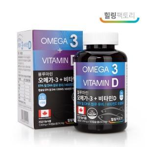 캐나다직수입 오메가3 1303mg+비타민D 1000IU  6개월