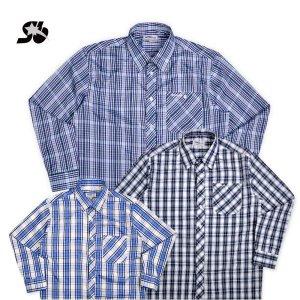 심비오즈  긴팔 체크남방 셔츠 작업복남방(MJ11233)
