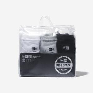 (뉴에라키즈) (대구신세계)키즈 무지 에센셜 반팔 티셔츠 3팩 멀티(아동용)