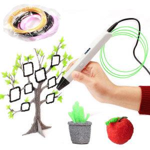 3D펜 프린터펜 보조배터리 사용 입체펜 RP800A 화이트