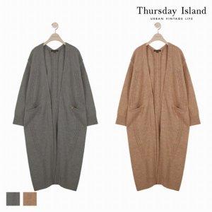 써스데이아일랜드  패션플러스  Thursday Island 여성 쇼바리단 롱 가디건 (T