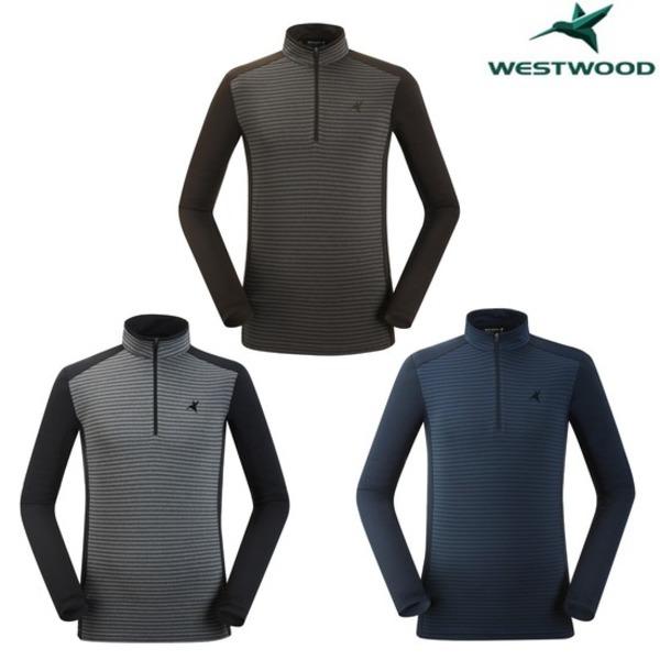 웨스트우드 스트라이프 집업 티셔츠 WI3MTTS303