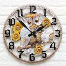 인테리어벽시계 부엉이해바라기(특대)/집들이선물소품