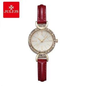 로맨틱 여자 큐빅 디자인 가죽밴드 손목시계 캐쥬얼