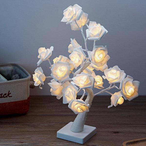 24구 로즈트리 LED 무드등(화이트)