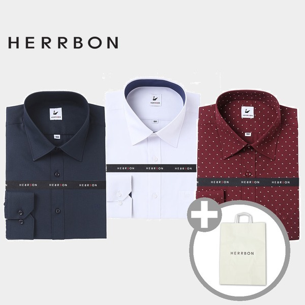 헤르본 긴소매셔츠 가을셔츠 체크셔츠 기본셔츠