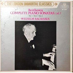 L3984- 일본 클래식LP/ BEETHOVEN COMPLETE PIANO SONATAS VOL.1 WILHELM BACKHAUS