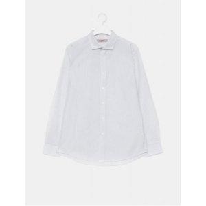남성 블랙 베이직 스트라이프 와이드 칼라 셔츠 (429864BY25)/ 에잇세컨즈