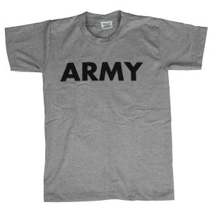 M-US ARMY 코튼 라운드 반팔티 그레이색상 아미티셔츠