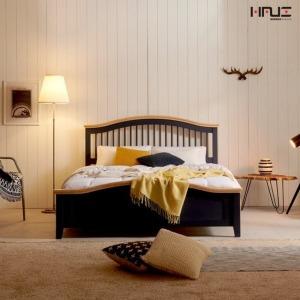엘리브 북유럽풍 원목 침대+독립스프링 Q침대 sy640