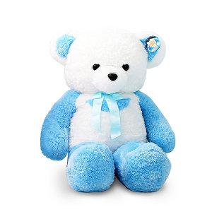 한울토이 반달곰 인형 블루(80cm)/대형곰 인형선물