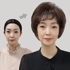 항암가발 중노년 여성가발 자연스러운 웨이브 국산