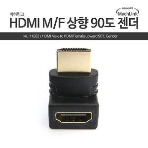 HDMI to HDMI FM 상향 90도 꺽임 젠더 ML-HG02
