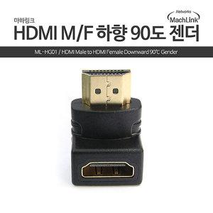 HDMI to HDMI FM 하향 90도 꺽임 젠더 ML-HG01