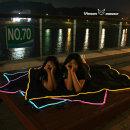네온 LED 피크닉 방수 돗자리 야외 매트 캠핑 텐트