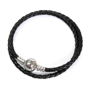 590745CBK-D2 PANDORA Leather Bracelet