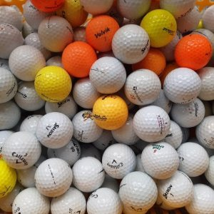 바로골프  중고  50알 C등급 로스트볼 토탈메이커 컬러혼합 초보자용 연습용 골프공