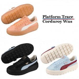 (신세계마산점)푸마 플렛폼 트레이스 코르덴 여성용 366977-01 02 03 PUMA 2018 Platform Trace Corduro...