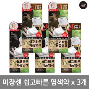 AP 미쟝센 쉽고빠른 거품 염색약 3개/거품염색약/새치