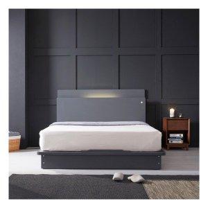 LED (USB내장) 평상형 침대 NA205 Q (매트제외)