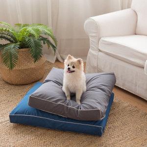 먼지 안붙는 강아지 꿀잠 코코방석 받침베개+방수커버 set (그레이/M)/ 바나나빌딩